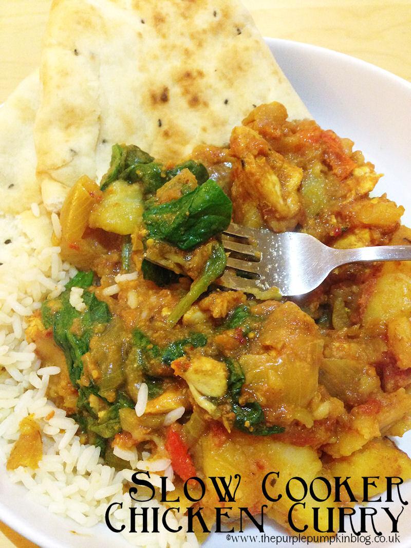 Slow Cooker Chicken Curry #Schwartz