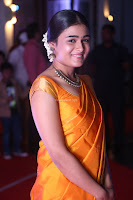 Shalini Pandey in Beautiful Orange Saree Sleeveless Blouse Choli ~  Exclusive Celebrities Galleries 035.JPG