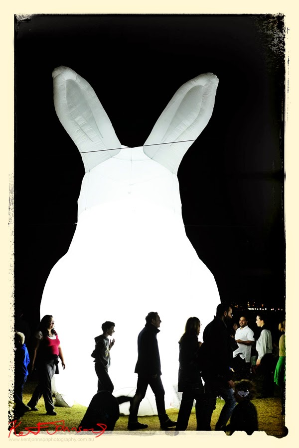 Shot Fujifilm X-Pro1, Snapseed processed on the HTC, Giant Rabbits Invade Sydney Harbour By Amanda Parer