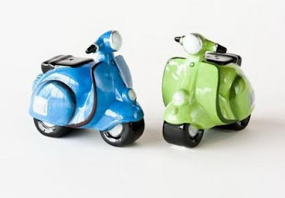 Vespa Scooters Salt and Pepper Shakers