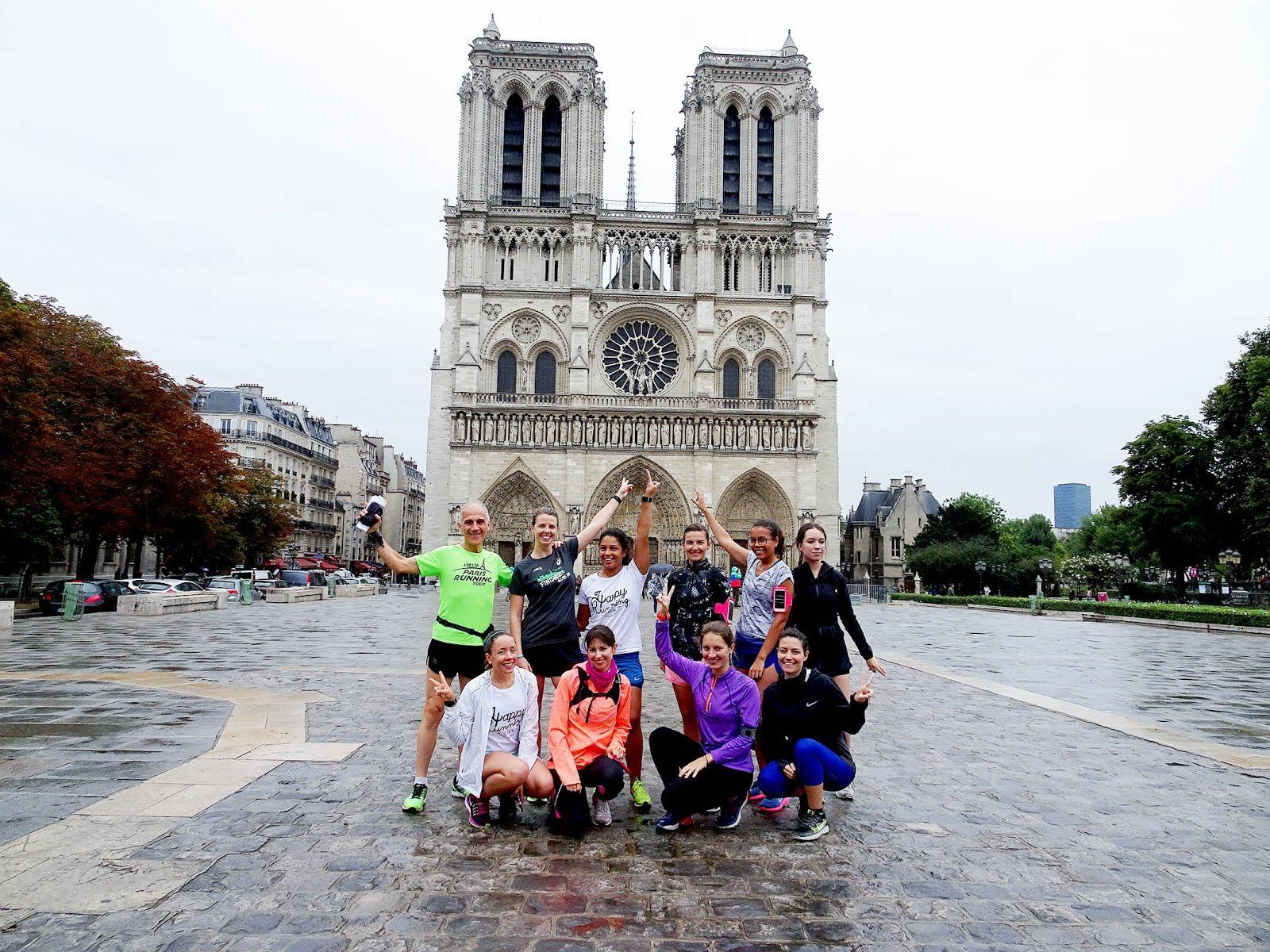 Courir en visitant Paris