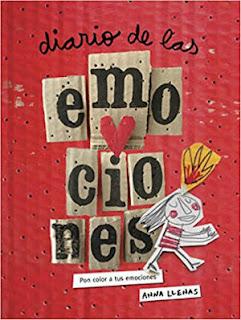 libro diario de las emociones, pon color a tus emociones de Anna Llenas