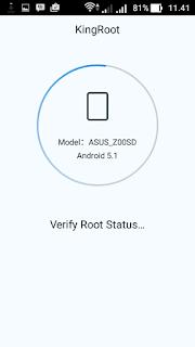 Verifikasi Root status
