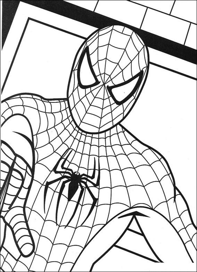 Dibujos animados para colorear: Spiderman para colorear