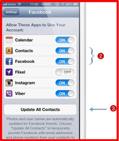 how to import facebook contacts to iphone