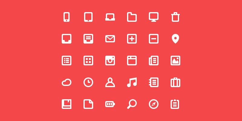 Free Flat Icon Glyph Pack