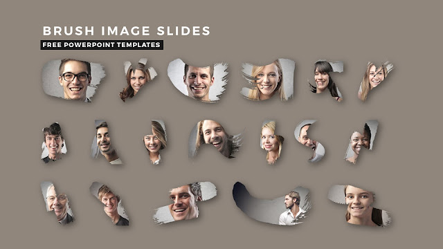 Professional Brush Image Placeholder PowerPoint Template Title