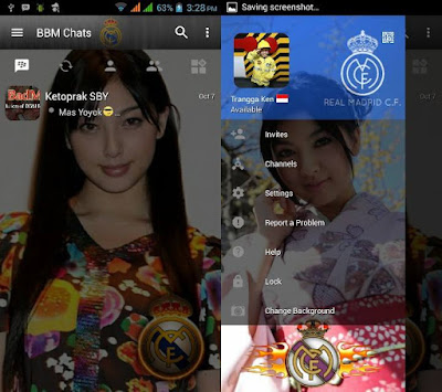 BBM Change Background With Real Madrid v3.0.1.25 MOD APK
