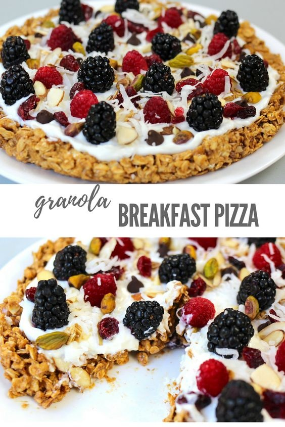 Granola Breakfast Pizza (Vegetarian)