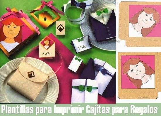 cajas, regalos, plantillas, manualidades, fiestas, envolver