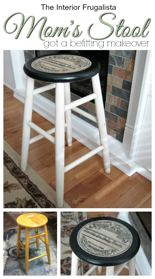 Mom's Stool Got A Befitting Makeover Before and After
