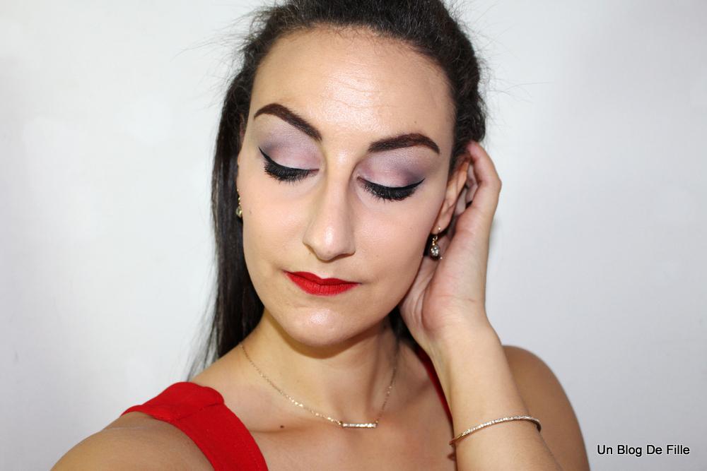 Un Blog De Fille Maquillage La Saint Valentin Avec Du Rouge Msc Tuto Bouche Rouge