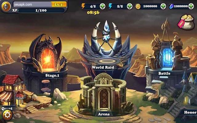 Defender III mod tiền & kim cương (coins crystals) cho Android