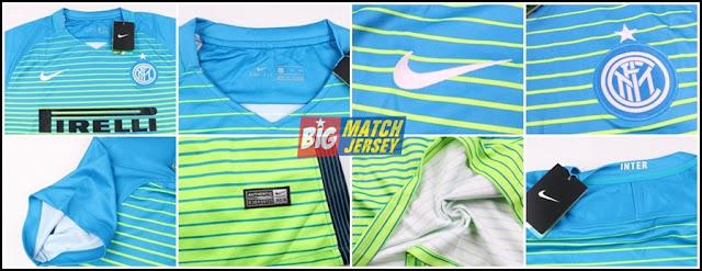 Detail Jersey Bola Official Terbaru Grade Ori Inter Milan Third 2016-2017 Nike Biru Hijau