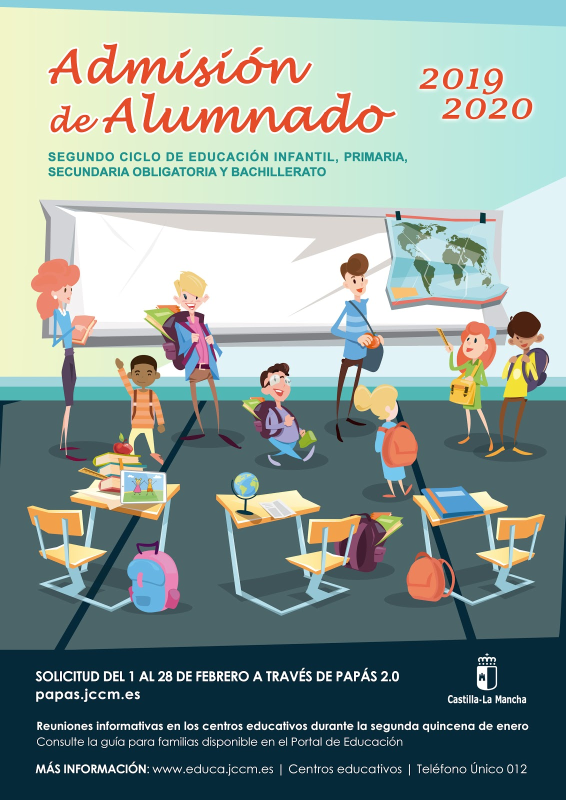 Admisión ESO y Bachillerato para el curso 2019/2020