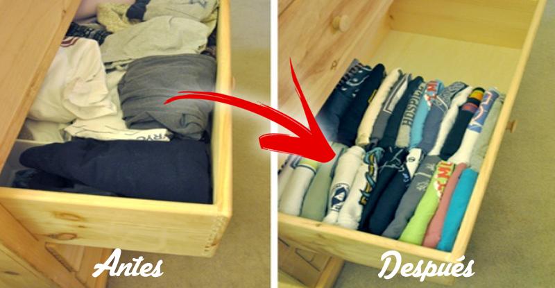 18 trucos para organizar los armarios y cajones de tu casa - Como ordenar un armario pequeno ...