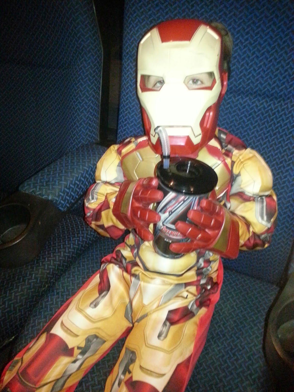 Boy Dressed as Iron Man