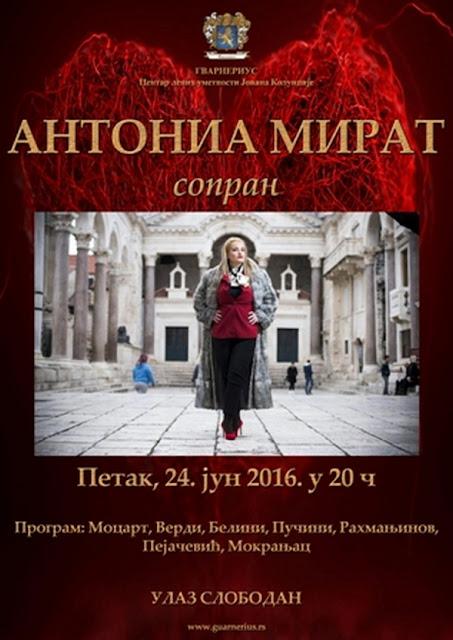 Premijerno u Beogradu, sopran Antonia Mirat