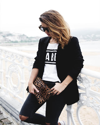 outfit formal blanco y negro tumblr juvenil