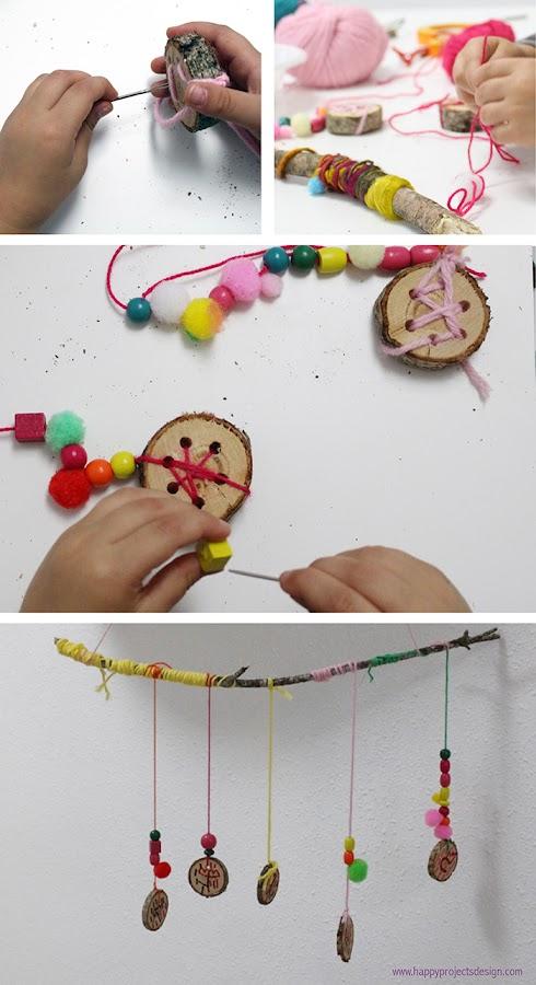 5 ecocrafs navideñas: rodajas de tronco
