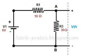 rangkaian untuk menghitung Vth