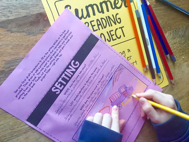 Help students dig deep into their summer reading book with this fun and engaging summer reading project!
