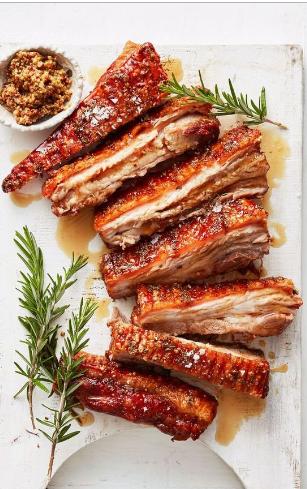 Maple mustard pork belly