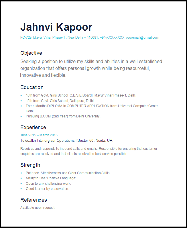 simple one page resume sle 2017 letter formats