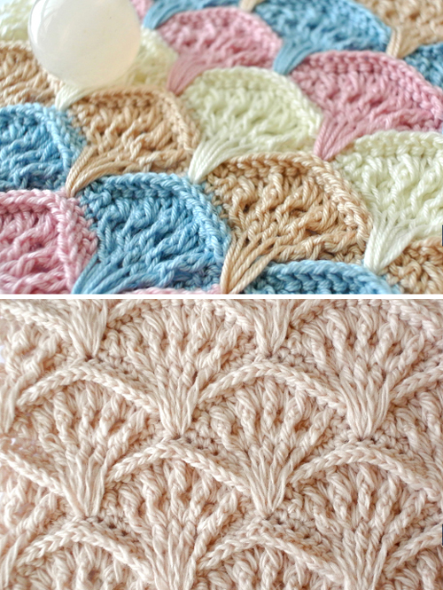 Crochet Shell Textured Stitch - Free  Pattern