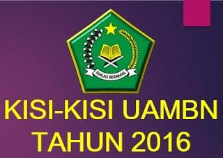 Kisi-Kisi Ujian Praktek UAMBN Tahun Pelajaran 2015/2016 Untuk MTs Dan MA