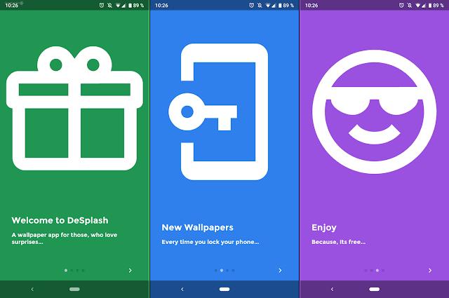 يقوم التطبيق الجديد الذي أطلق desplash.png
