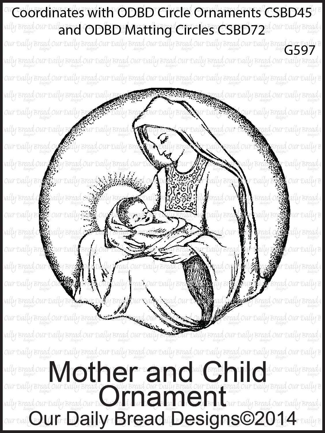 Stamps - Our Daily Bread Designs Mother and Child Ornament