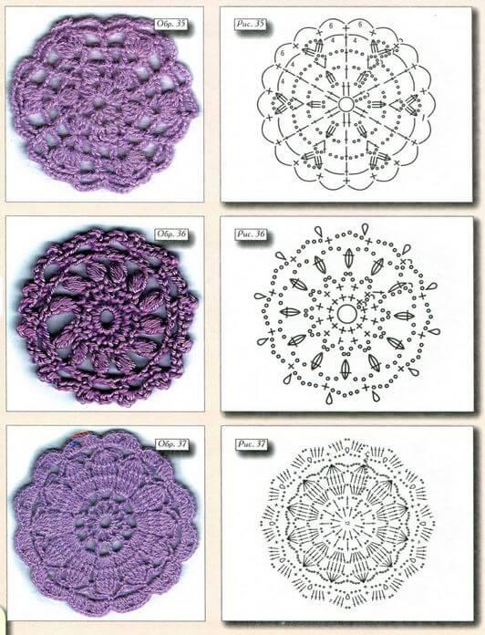 40 Esquemas Crochet de Motivos Circulares | Todo crochet