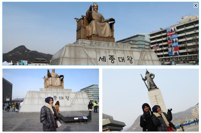 gyeongbokgung patung king sejong