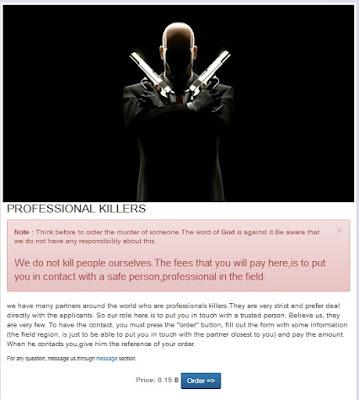 situs deep web untuk menyewa pembunuh bayaran