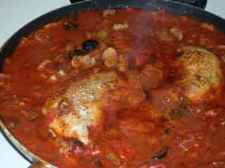 Chicken cacciatore sauce start