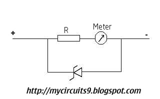 meter protection using zener diode