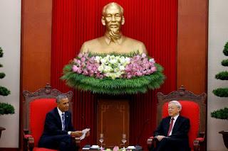 Obama sostiene encuentro con Secretario General del Partido Comunista de Vietnam