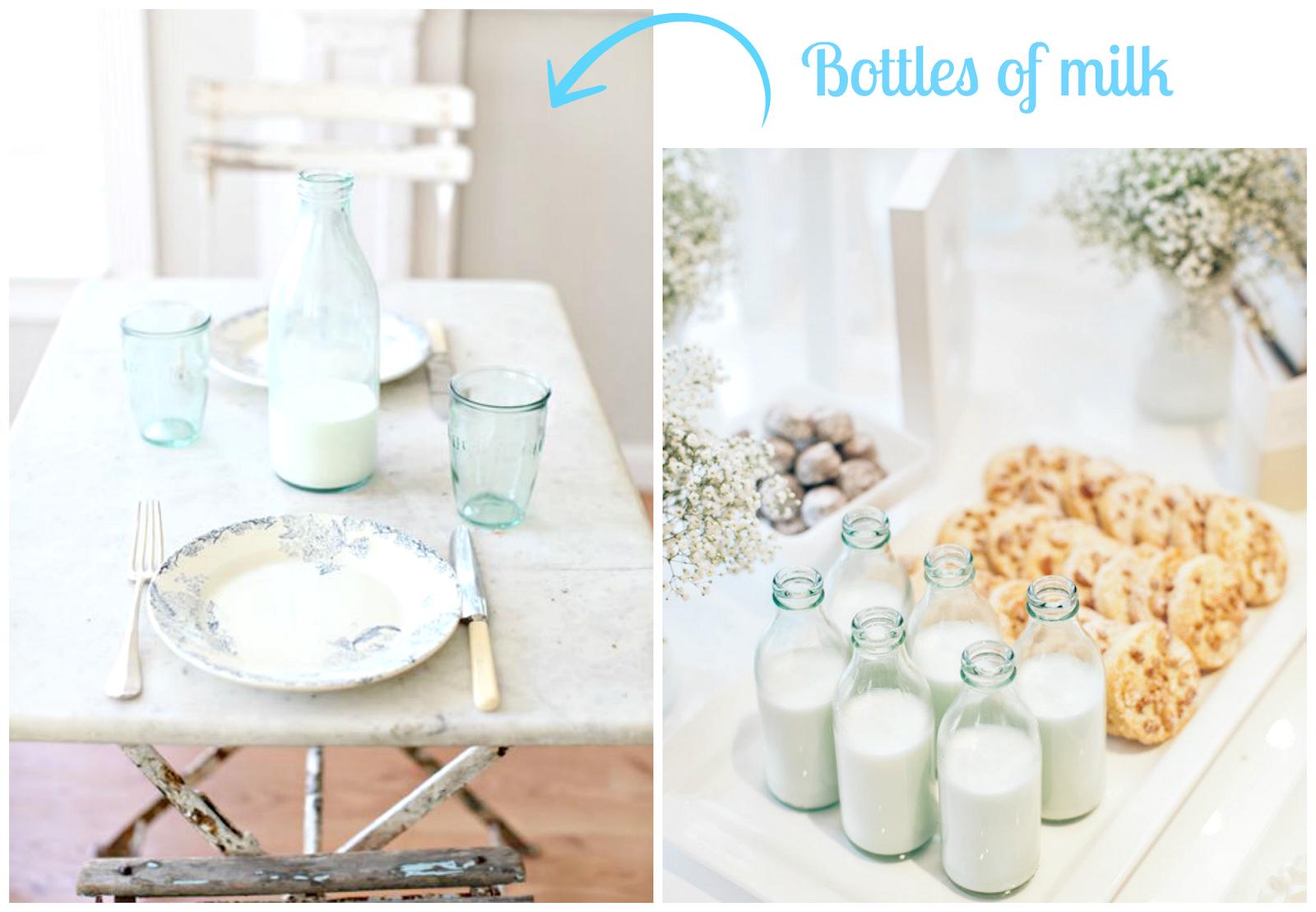 mleko w butelkach