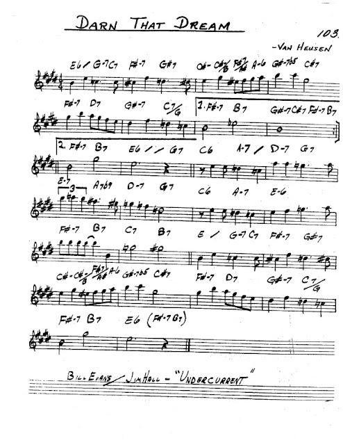 Partitura Saxofón Van Heusen