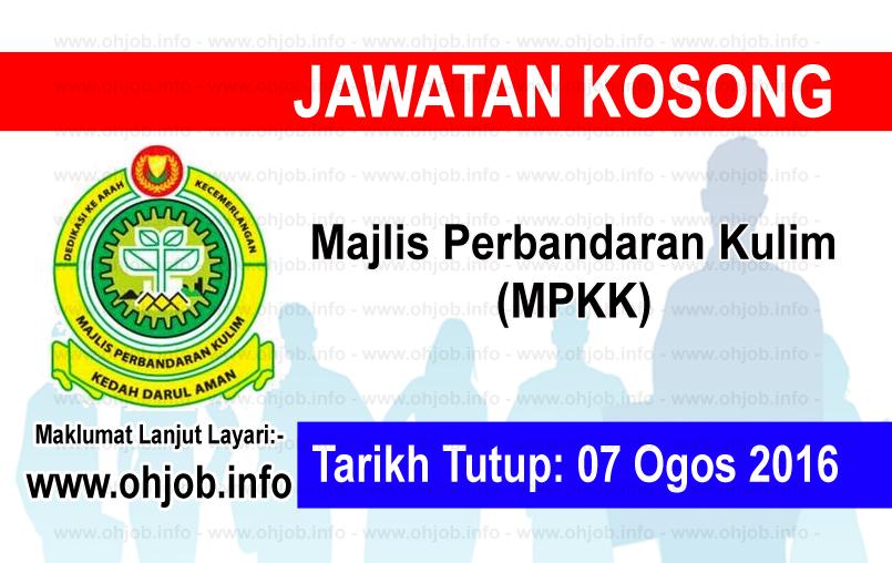 Jawatan Kerja Kosong Majlis Perbandaran Kulim (MPKK) logo www.ohjob.info ogos 2016