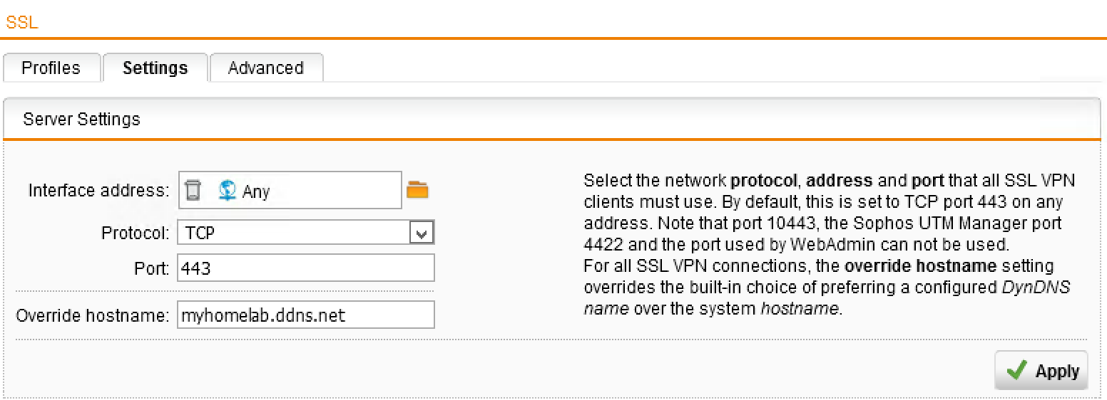 Virtual nomad organising remote access to your home lab with 4 go to advanced setting and enter your dynamic dns record into the override hostname field alternatively if you use static public ip address you can xflitez Image collections
