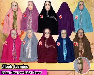 Jilbab syria plus hiasan rempel dan desain manik-manik keren