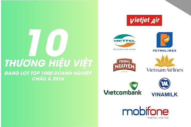 10 thương hiệu Việt lớn nhất