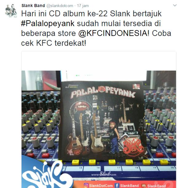 Lagu Slank Full Album ke-22 Slank Palalopeyank (2017)