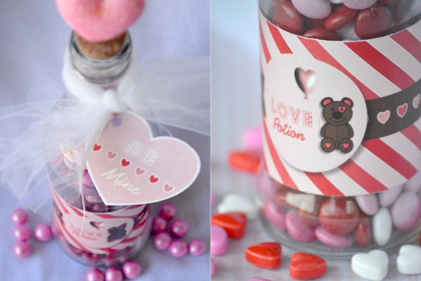 Valentine's Day DIY LOVE Potion Party Favor - via BirdsParty.com
