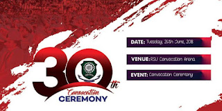 Rivers State University's 30th convocation schedule