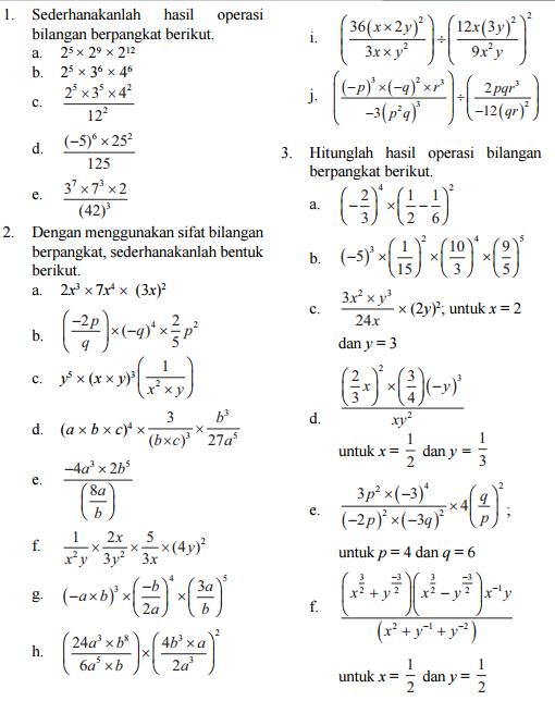 Contoh Soal Persamaan Eksponen Kelas 10 Kurikulum 2013 : contoh, persamaan, eksponen, kelas, kurikulum, Latihan, Eksponen, IlmuSosial.id