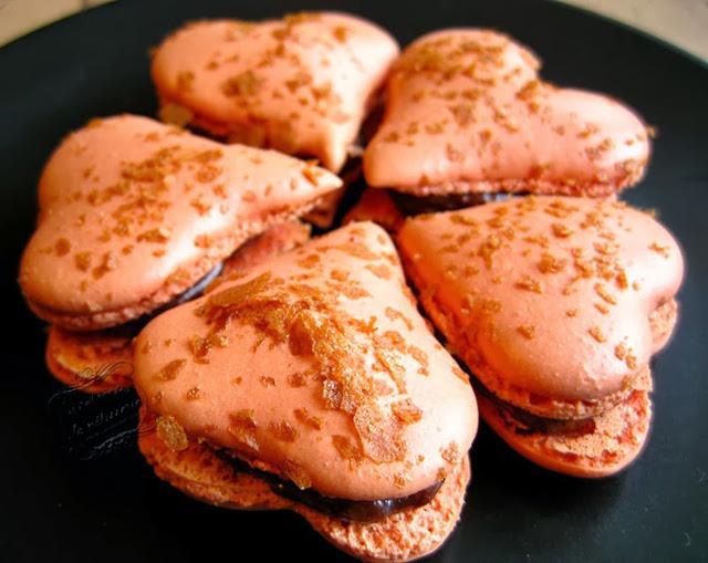macarons en forme de coeur