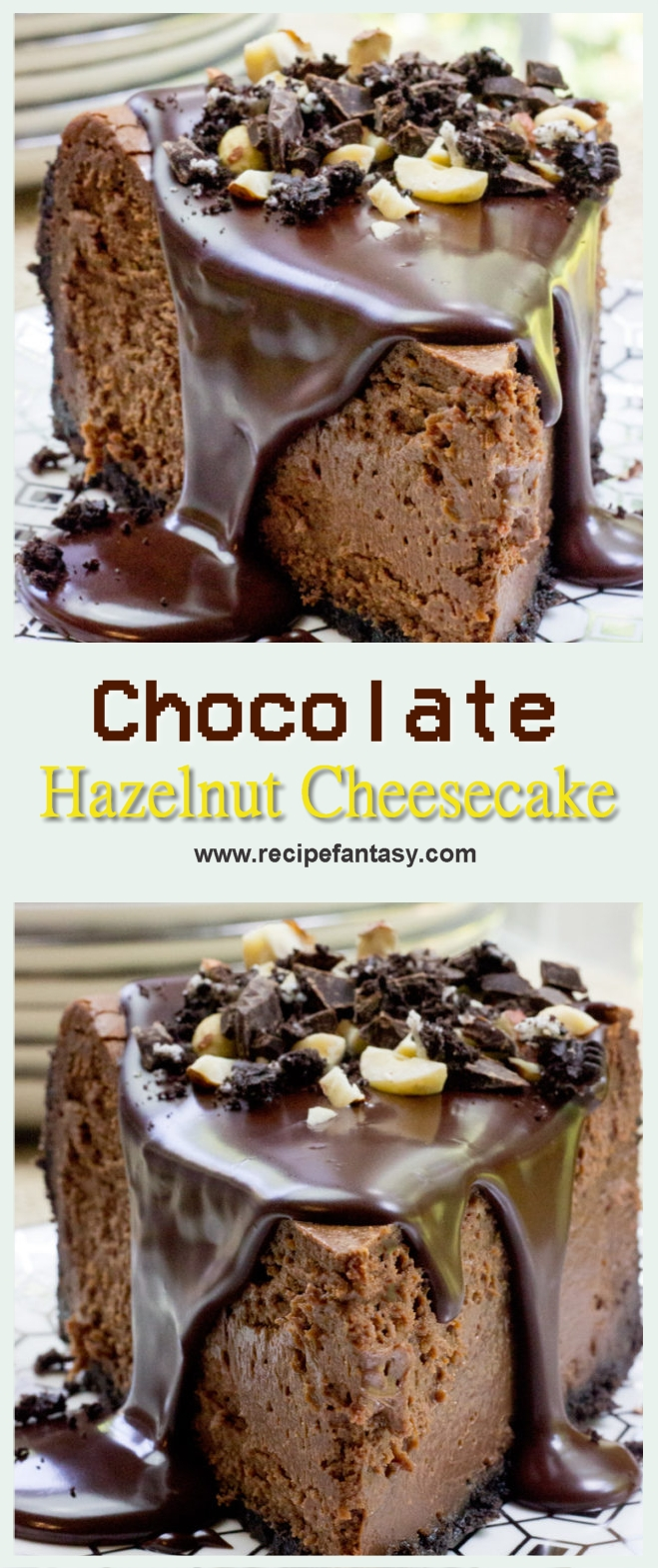 Rich Chocolate Hazelnut Cheesecake